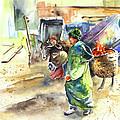 Morrocan Market 04 Print by Miki De Goodaboom