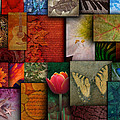 Mosaic Earth Tone Nature Rough Patterns by Angela Waye