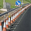 Motorway Traffic Cones by Linda Wright