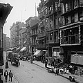 Mott Street In New York Citys Chinatown by Everett