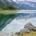 Mountain Lake In Jasper National Park by Elena Elisseeva