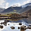 Mountains And Lake At Lake District by John Short