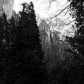 Mountains Of Yosemite . 7d6214 . Black And White by Wingsdomain Art and Photography
