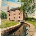 Mt. Vernon Gristmill Art by Jim Moore