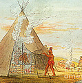 Native American Indian Sweat Lodge Print by Science Source