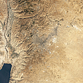Natural-color Satellite View Of Amman by Stocktrek Images