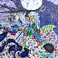 Neptune Rides the Sea Print by Carol Law Conklin