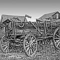 Nevada City Montana Freight Wagon Print by Daniel Hagerman