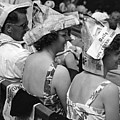 Newspaper Hats by Fox Photos