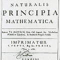 Newtons Principia, Title Page by Science Source