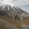 Ngauruhoe Cone And Upper Tama Lake by Richard Roscoe