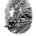 Night Train, Artwork by Bill Sanderson