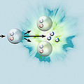 Nuclear Fission Reaction, Artwork Print by Claus Lunau