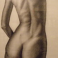 Nude Female Study Of Back by Neal Luea
