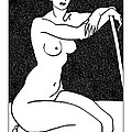 nude sketch 29 Print by Leonid Petrushin