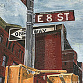 NYC 8th Street Print by Debbie DeWitt
