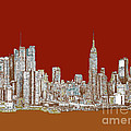 Nyc Red Sepia  by Adendorff Design