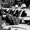Nyc Traffic Bw3 by Scott Kelley