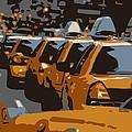 Nyc Traffic Color 6 by Scott Kelley