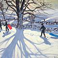 obogganers near Youlegrave by Andrew Macara