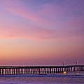 Ocean Pier At Dawn by David Buffington