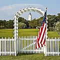 Ocracoke Lighthouse July 4th by Bill Swindaman