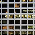 Office Building At Night by Lars Ruecker