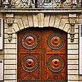 Old doors Print by Elena Elisseeva