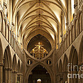 Old English Style Cathedral Print by Heiko Koehrer-Wagner