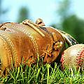 Old Glove And Baseball  by Sandra Cunningham