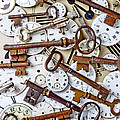 Old Keys And Watch Dails by Garry Gay