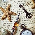 Old Letter With Pen And Starfish by Garry Gay