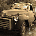 Old Nostalgic American Gmc Flatbed Truck . 7d9821 . Sepia by Wingsdomain Art and Photography