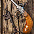 Old Pistol And Skeleton Key by Garry Gay