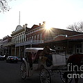 Old Sacramento California In Partial Silhouette . 7d11719 by Wingsdomain Art and Photography