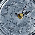 Old Silver Clock by Carlos Caetano