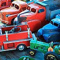 Old Tin Toys Print by Steve McKinzie