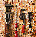 Old Tools On Rusty Counter  by Garry Gay