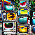 Old Tv's Abstract by Garry Gay