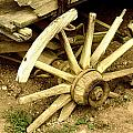 Old Wagon Wheel by Susie Weaver