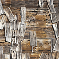 Old Wood Shingles On Building, Mendocino, California, Ca by Paul Edmondson