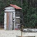 Oldtime Outhouse - Digital Art Print by Al Powell Photography USA