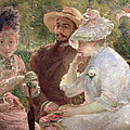 On The Terrace At Sevres by Marie Bracquemond