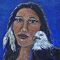 Onawa Native American Woman Of Wisdom by The Art With A Heart By Charlotte Phillips
