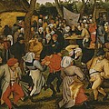 Open Air Wedding Dance by Pieter the Younger Brueghel