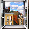 Open window Print by Elena Elisseeva