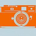 Orange camera Print by Naxart Studio