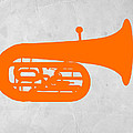 Orange Tuba by Naxart Studio