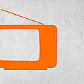 Orange Tv Vintage by Naxart Studio