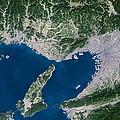 Osaka, Satellite Image by Planetobserver